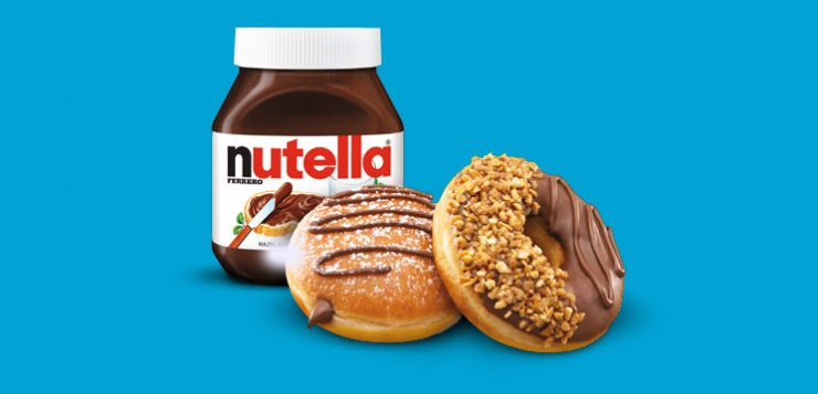 Krispy Kreme doughnuts now with Nutella