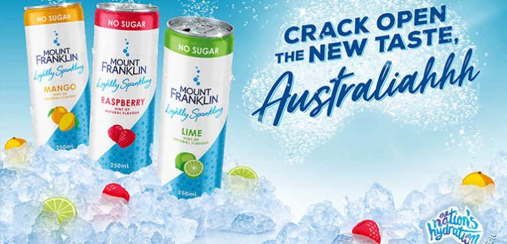 Mount Franklin launches canned sparkling water